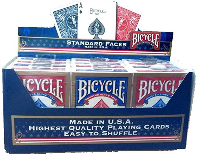 Lot de 12 jeux de cartesBicycle 1