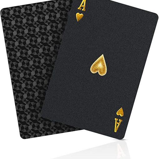Jeu de Cartes or étanches en Plastique Poker 2