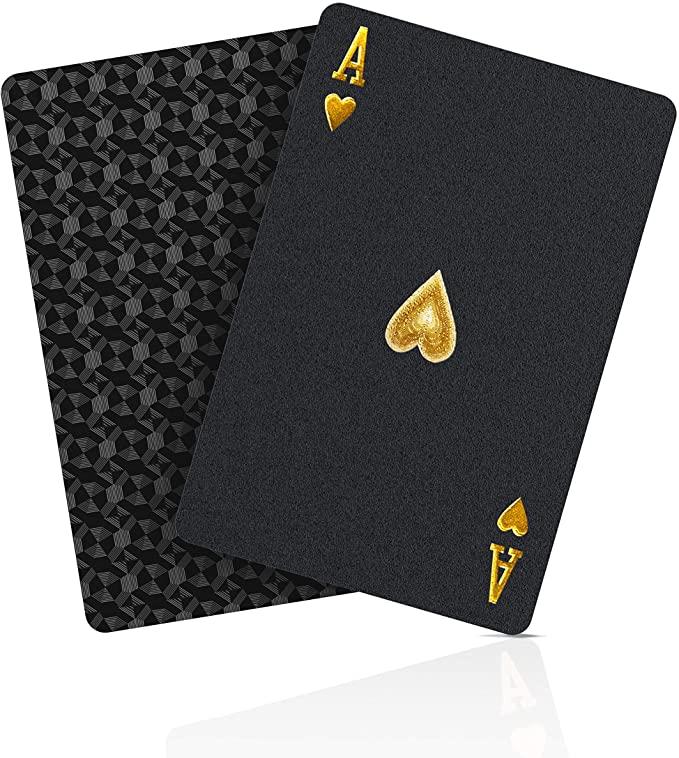Jeu de Cartes or étanches en Plastique Poker 1