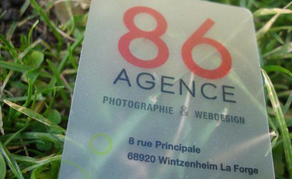 carte de visite transparente agence webdesign 2