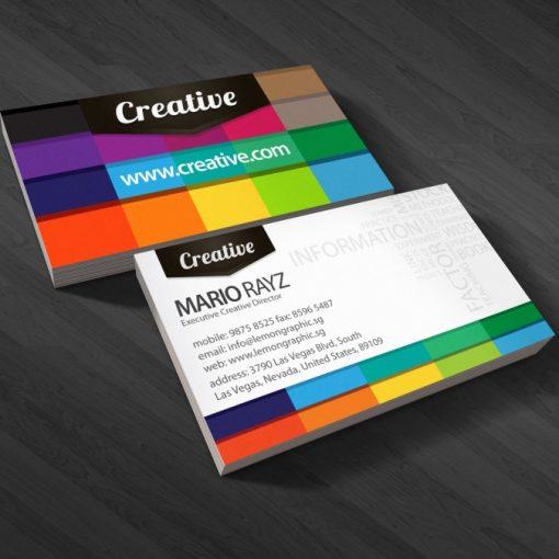 carte de visite designer graphique 2