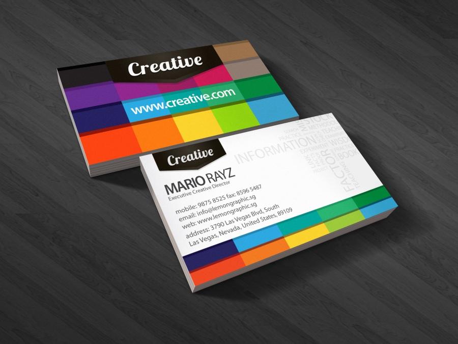 carte de visite designer graphique 1